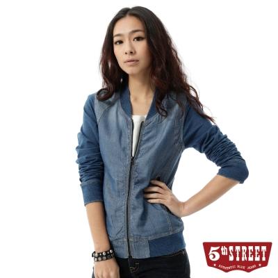 5th-STREET-外套-天絲棉牛仔外套-女-石洗藍