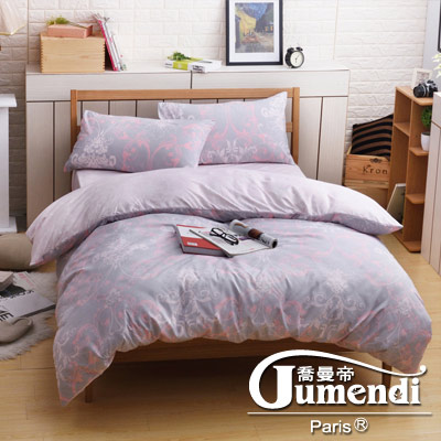 喬曼帝Jumendi-粉色戀情 台灣製活性柔絲絨雙人被套6x7尺