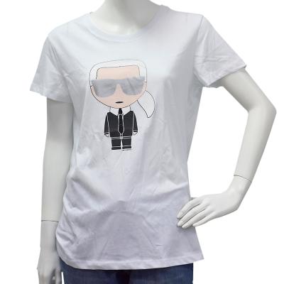 KARL LAGERFELD經典Ikonik Karl系列老佛爺圖案短袖T恤(白)