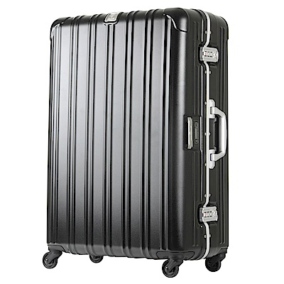 日本 LEGEND WALKER 6201L-62-25吋 電子秤行李箱 消光黑