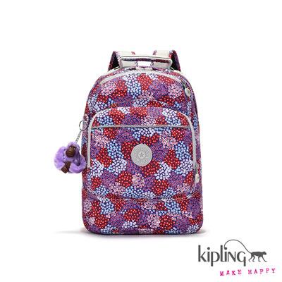Kipling-後背包-紅紫碎花