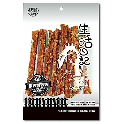 MDOBI摩多比-生活日記 狗零食 雞肉燕麥棒80g-3包組