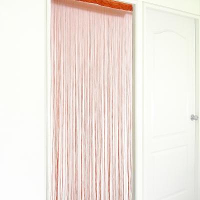 布安於室-橘色線簾