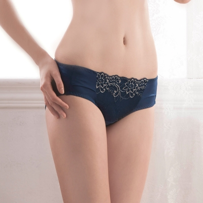 羅絲美內衣 - 安琪拉夢境 低腰三角褲(深藍)
