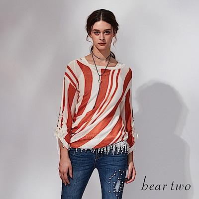 beartwo 扭轉感線條針織上衣(二色)