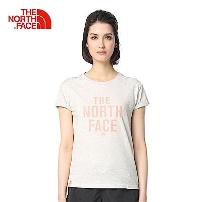 The North Face北面女款白色舒適透氣短袖T恤