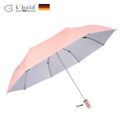 德國kobold酷波德 抗UV粉紅女王系列-矽膠蜂巢-按摩手把-遮陽防曬三折傘-公主粉