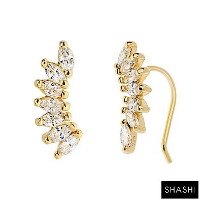 SHASHI 紐約品牌 ISABELLA CLIMBER 鑲鑽天使翅膀耳環 耳廓耳環 小版