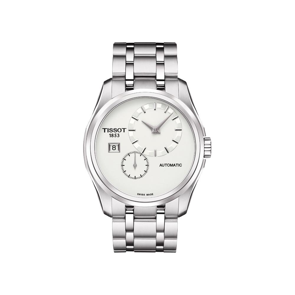TISSOT Couturier建構師偏心系列機械腕錶-銀39mm