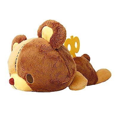 TAITO 日版 日本Truffe發條小熊 趴姿發條小熊 絨毛娃娃 張眼 A款