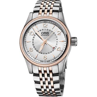 Oris Big Crown 大表冠指針式日期錶-銀x雙色版/40mm