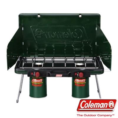 Coleman 6707 瓦斯雙口爐 自動點火使用瓦斯 收納方便(公司貨)