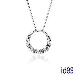 ides愛蒂思 輕珠寶。日韓風潮個性時尚925純銀晶鑽項鍊/自信魅麗