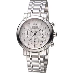 SEIKO CS系列 愛麗絲時尚計時腕錶(7T12-0CB0S)銀白/36mm
