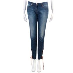 LORELLA SIGNORINO 藍色綁帶造型九分牛仔褲