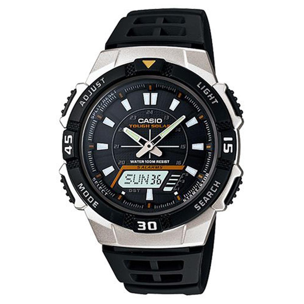 CASIO 新城市陽光遊俠電子運動錶(AQ-S800W-1E)-銀框/42mm