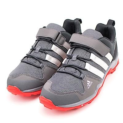 24H-ADIDAS-中童登山鞋CM7653-灰
