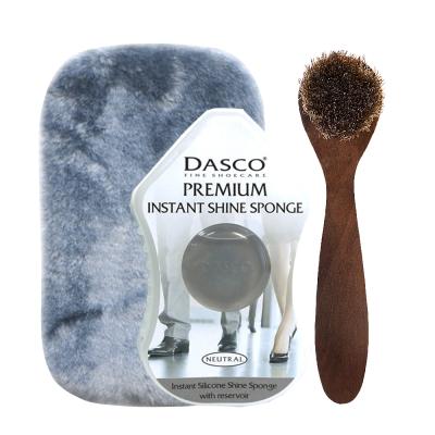 足的美形 英國Dasco海綿閃亮隨手鞋擦(透明)+布.鞋刷組