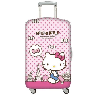 LOQI行李箱套 Hello Kitty巴黎鐵塔M號 適用22-27吋行李箱保護套