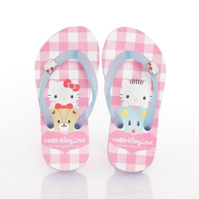 HelloKitty 好朋友系列 可愛輕盈舒適減壓夾腳拖鞋童鞋-粉