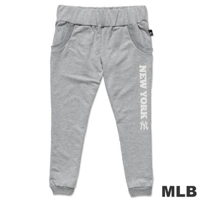MLB-紐約洋基隊印花休閒七分褲-麻灰(女)