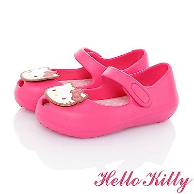 HelloKitty 極輕量Q彈魚口娃娃童鞋-桃