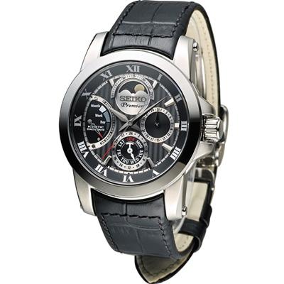 SEIKO PREMIER 萬年曆新古典時尚月相錶(SRX013J1)41mm