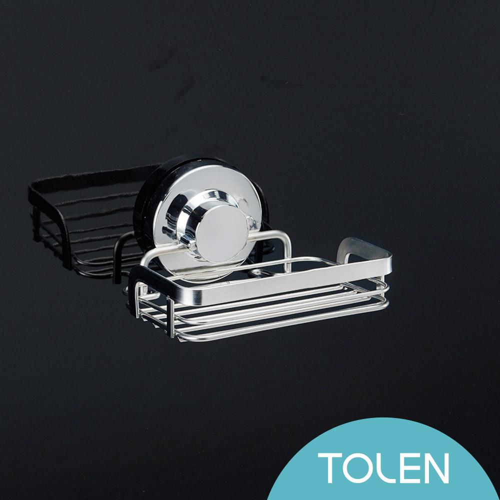 Tolen陶然居-強力無痕吸盤-Hily好吸利-不鏽鋼肥皂架