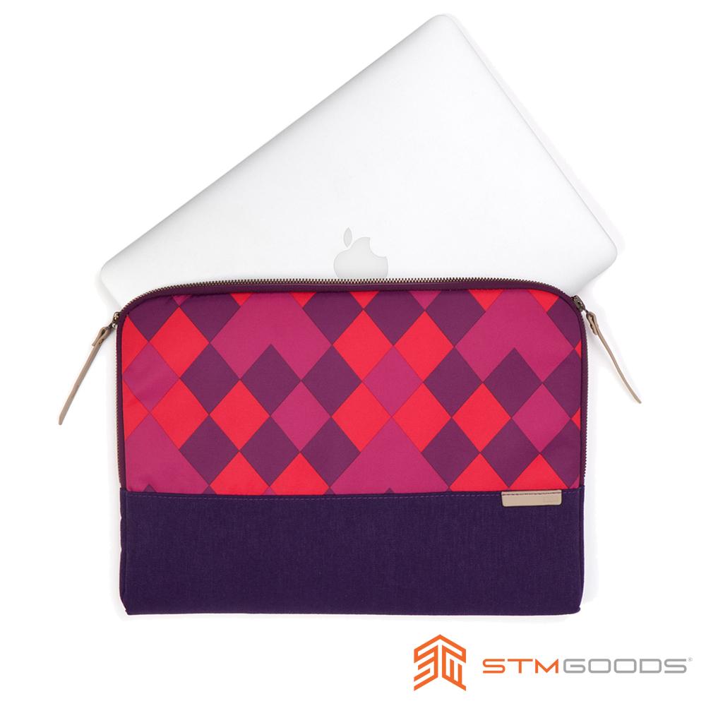 澳洲 STM Grace Sleeve 15吋時尚菱格紋筆電袋 - 紫