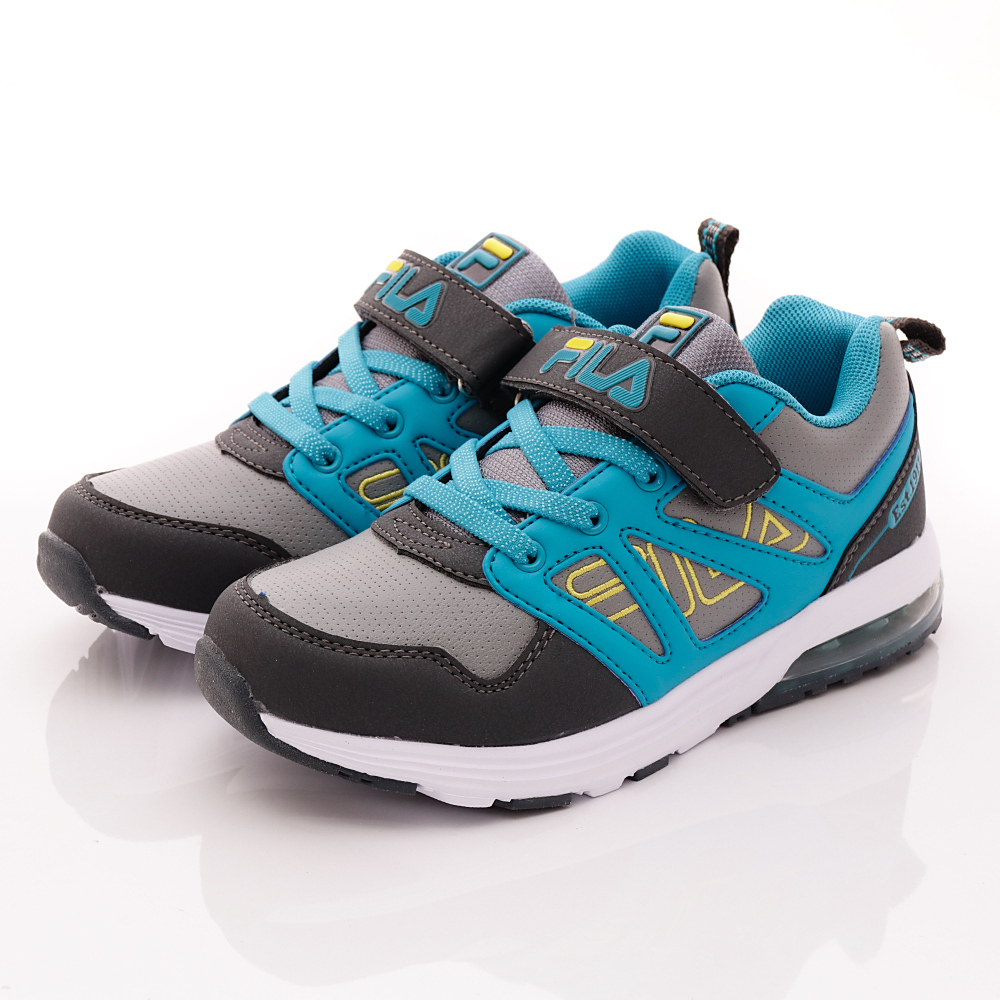 FILA頂級童鞋款-機能氣墊款-410R433灰藍(中大童段)HN