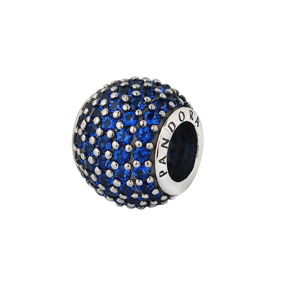 Pandora 潘朵拉 滿鑲鋯石球-寶藍色