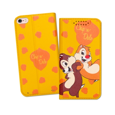 迪士尼授權正版 iPhone 6S Plus 5.5吋 印花系列彩繪皮套(奇奇蒂蒂)