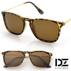 DZ 摩登趨勢 抗UV 偏光 太陽眼鏡墨鏡(斑框褐片)