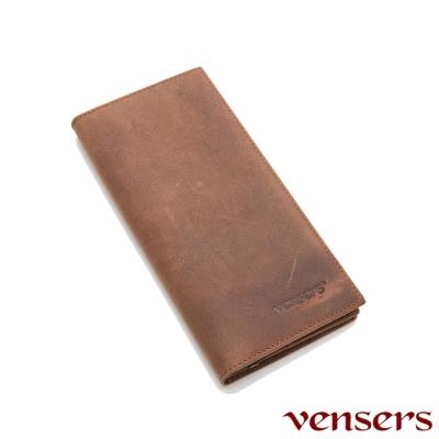 vensers 小牛皮潮流個性皮夾~(NB810001瘋馬皮長夾)