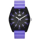 adidas 極致色彩時刻時尚限量版腕錶-黑x粉紫/40mm