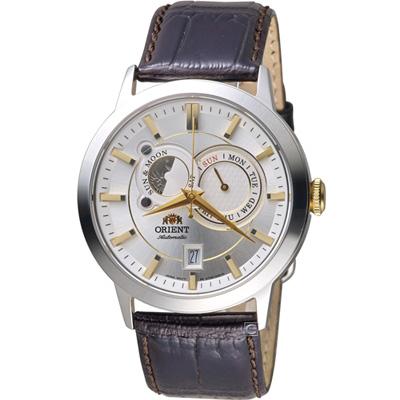 ORIENT東方錶SUN&MOON系列日月相腕錶(FET 0 P 004 W)