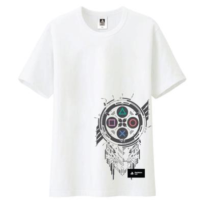 圖騰紋章T恤白XL
