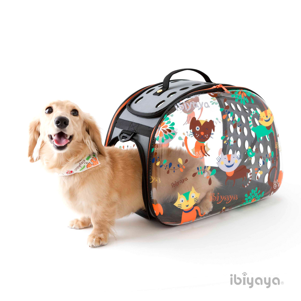 IBIYAYA依比呀呀 FC1220 透明膠囊寵物提包-DOG/CAT