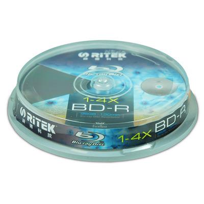 『10片』RiTEK錸德 4X BD-R Blu-ray藍光片(布丁筒)