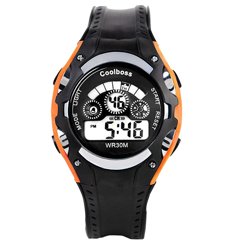 Watch-123 型男日誌-七彩炫光街頭潮流電子腕錶/43mm