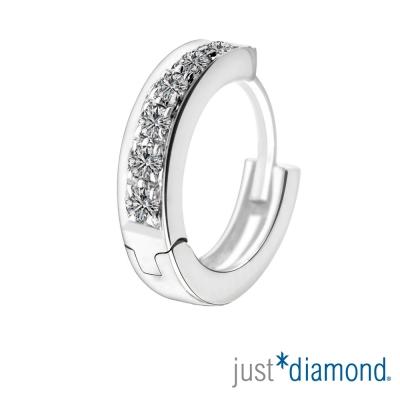 Just Diamond 18K金鑽石單耳耳環-澈亮