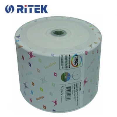 錸德 Ritek X版 珍珠白滿版可印 CD-R 52X (50片)