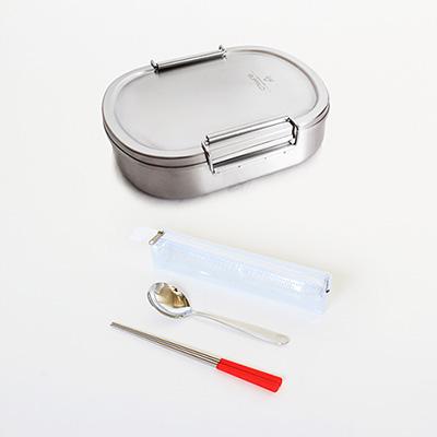 [開學季熱銷組合] 牛頭牌 雅登便當盒(中)+餐具組(共2色)