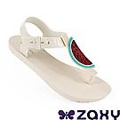 Zaxy 巴西 女水果樂園T字涼鞋-白色