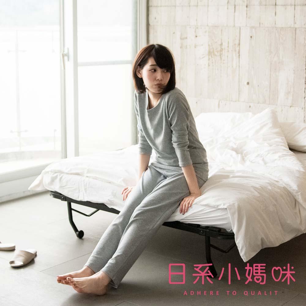 日系小媽咪孕婦裝-台灣製哺乳衣~細條紋居家休閒套裝 M-XXL (共二色)