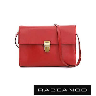 RABEANCO 時尚風琴式設計多夾層信封包 石榴紅