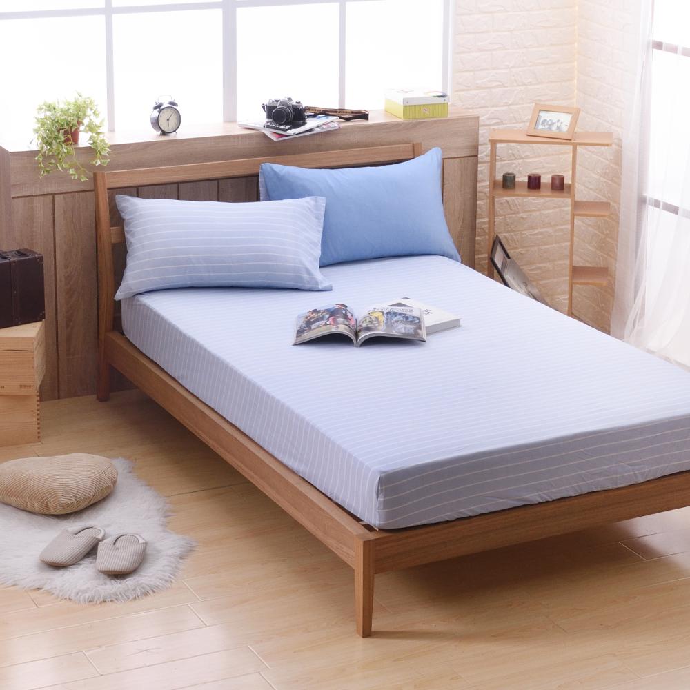 喬曼帝Jumendi-蔚藍海岸 專利吸濕排汗天絲單人二件式床包組