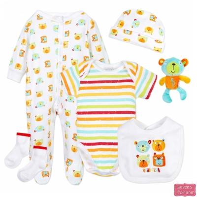 LILY & JACK 英國 彩虹條紋小熊款6件超值套裝組合