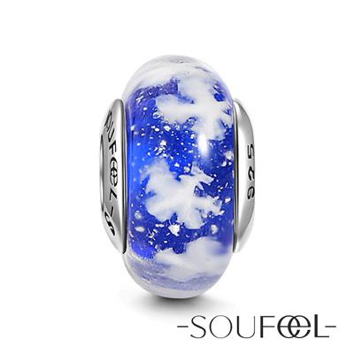 SOUFEEL索菲爾 925純銀珠飾 雪紛飛 琉璃珠