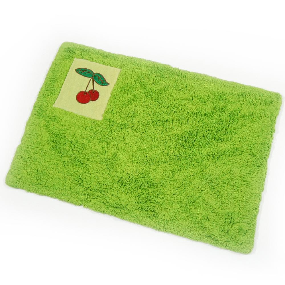 布安於室-刺繡純棉踏墊-綠色